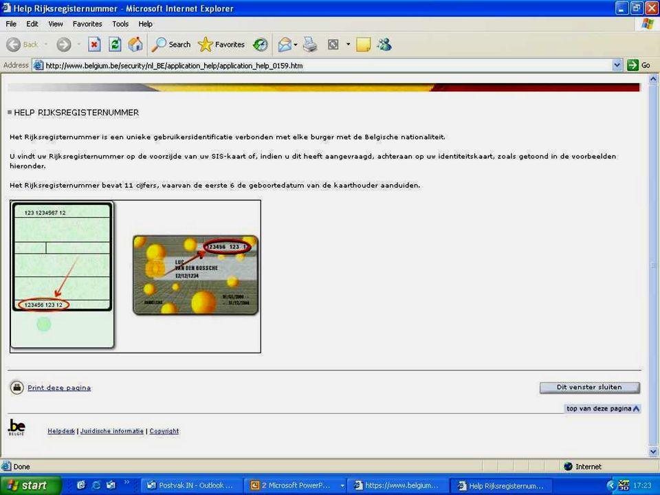 Deze presentatie mag noch geheel, noch gedeeltelijk worden gebruikt of gekopieerd zonder de schriftelijke toestemming van Seniornet Vlaanderen VZW maart 2009 EID en e-government 59