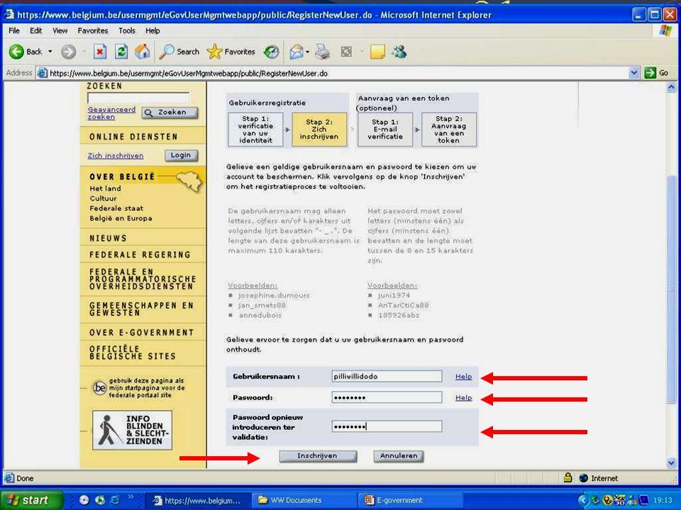 Deze presentatie mag noch geheel, noch gedeeltelijk worden gebruikt of gekopieerd zonder de schriftelijke toestemming van Seniornet Vlaanderen VZW maart 2009 EID en e-government 60
