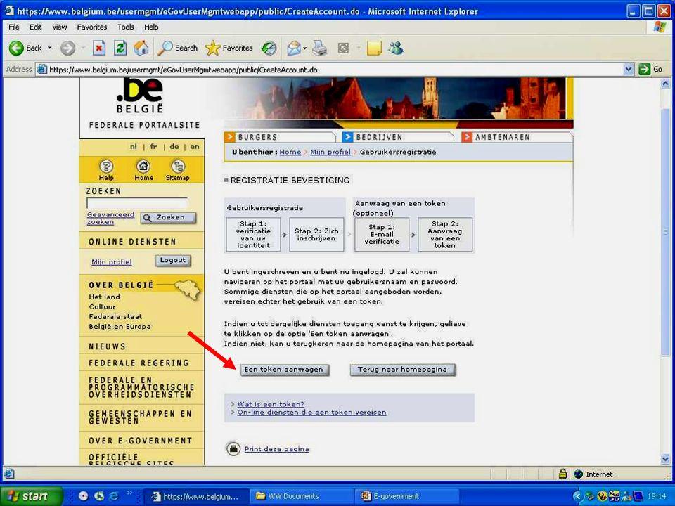 Deze presentatie mag noch geheel, noch gedeeltelijk worden gebruikt of gekopieerd zonder de schriftelijke toestemming van Seniornet Vlaanderen VZW maart 2009 EID en e-government 61