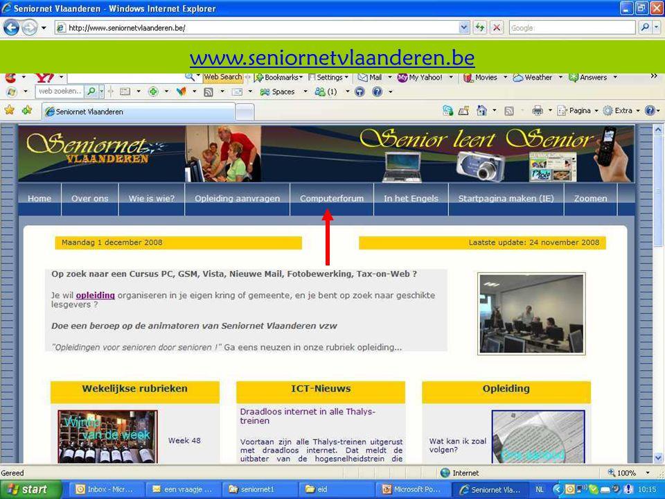 Deze presentatie mag noch geheel, noch gedeeltelijk worden gebruikt of gekopieerd zonder de schriftelijke toestemming van Seniornet Vlaanderen VZW maart 2009 EID en e-government 76 www.seniornetvlaanderen.be