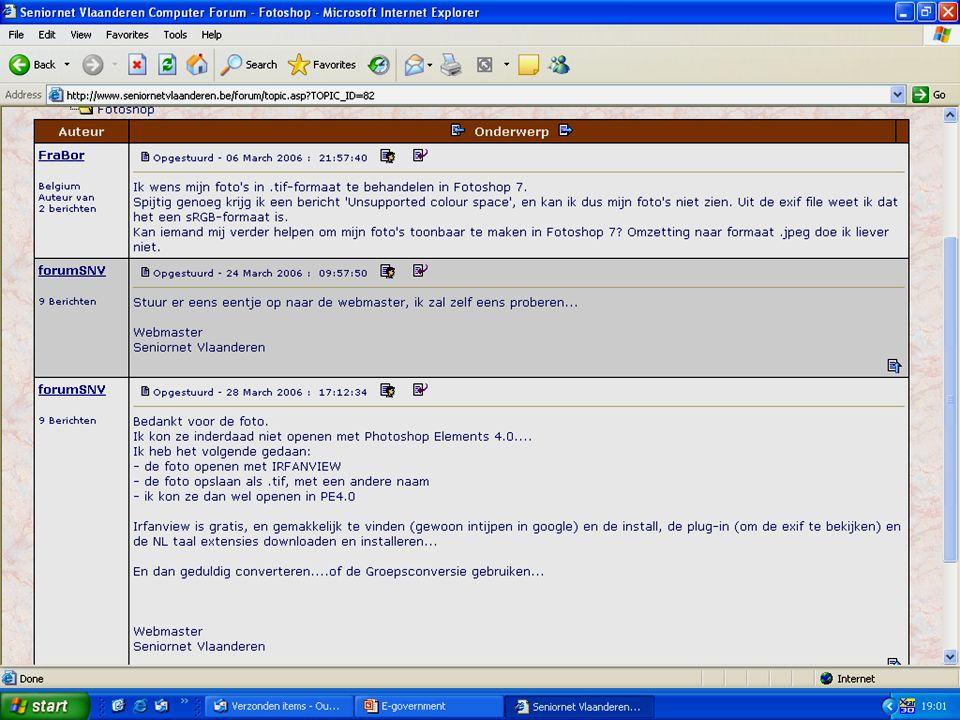 Deze presentatie mag noch geheel, noch gedeeltelijk worden gebruikt of gekopieerd zonder de schriftelijke toestemming van Seniornet Vlaanderen VZW maart 2009 EID en e-government 81