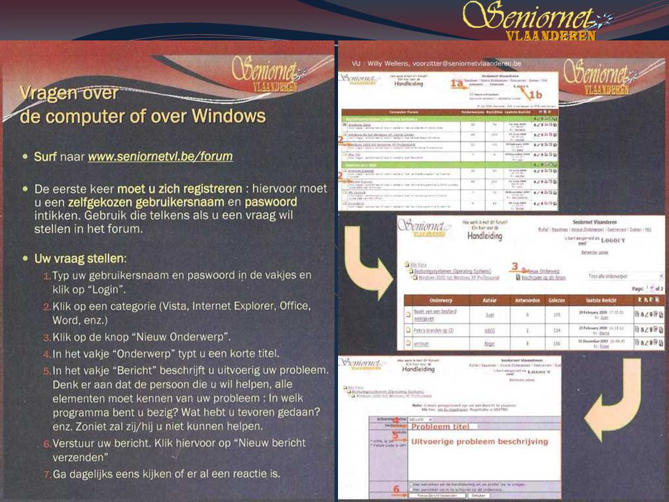 Deze presentatie mag noch geheel, noch gedeeltelijk worden gebruikt of gekopieerd zonder de schriftelijke toestemming van Seniornet Vlaanderen VZW maart 2009 EID en e-government 82