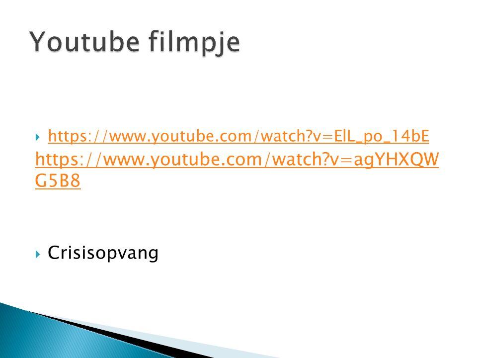  https://www.youtube.com/watch?v=ElL_po_14bE https://www.youtube.com/watch?v=ElL_po_14bE https://www.youtube.com/watch?v=agYHXQW G5B8  Crisisopvang