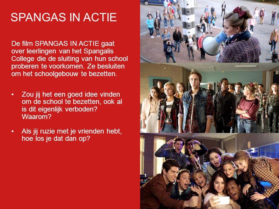 Filmp oster De film SPANGAS IN ACTIE gaat over leerlingen van het Spangalis College die de sluiting van hun school proberen te voorkomen.