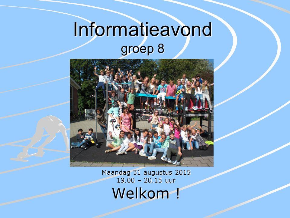 Een kort overzicht Activiteiten in groep 8 De (nieuwe) vakken Huiswerk Verantwoordelijkheden en afspraken Informatieavond V.O.
