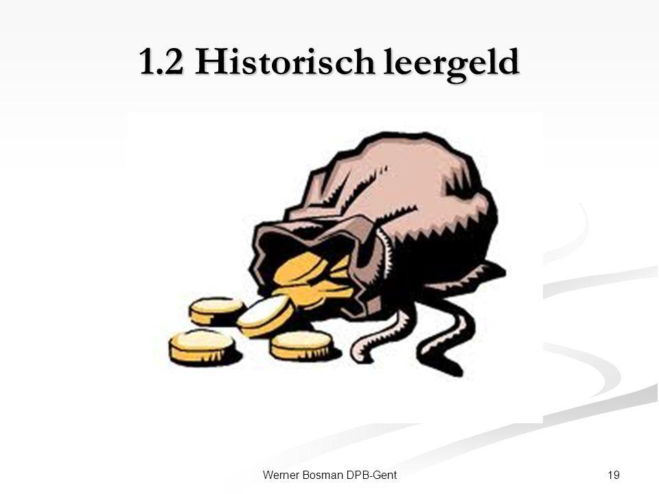 1.2 Historisch leergeld 19Werner Bosman DPB-Gent