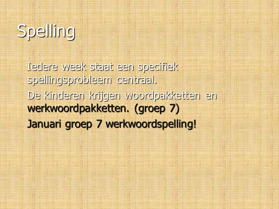 Spelling Iedere week staat een specifiek spellingsprobleem centraal.