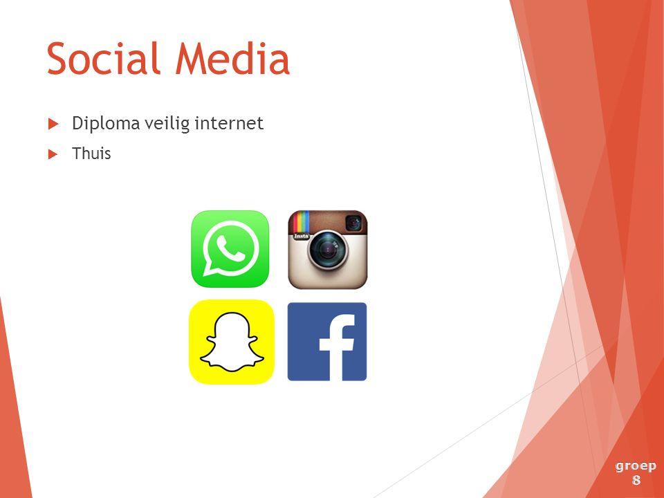 Social Media  Diploma veilig internet  Thuis