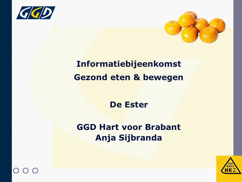 Informatiebijeenkomst Gezond eten & bewegen De Ester GGD Hart voor Brabant Anja Sijbranda