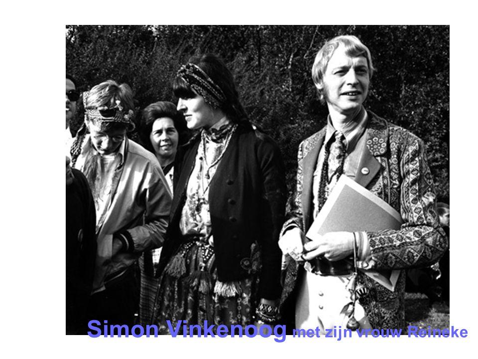 Simon Vinkenoog met zijn vrouw Reineke