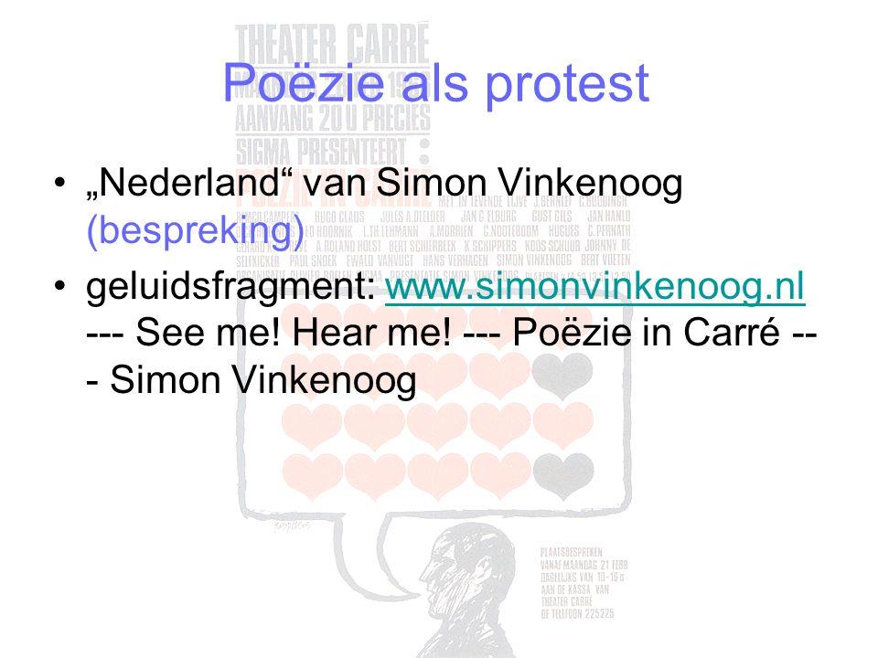 "Poëzie als protest ""Nederland van Simon Vinkenoog (bespreking) geluidsfragment: www.simonvinkenoog.nl --- See me."