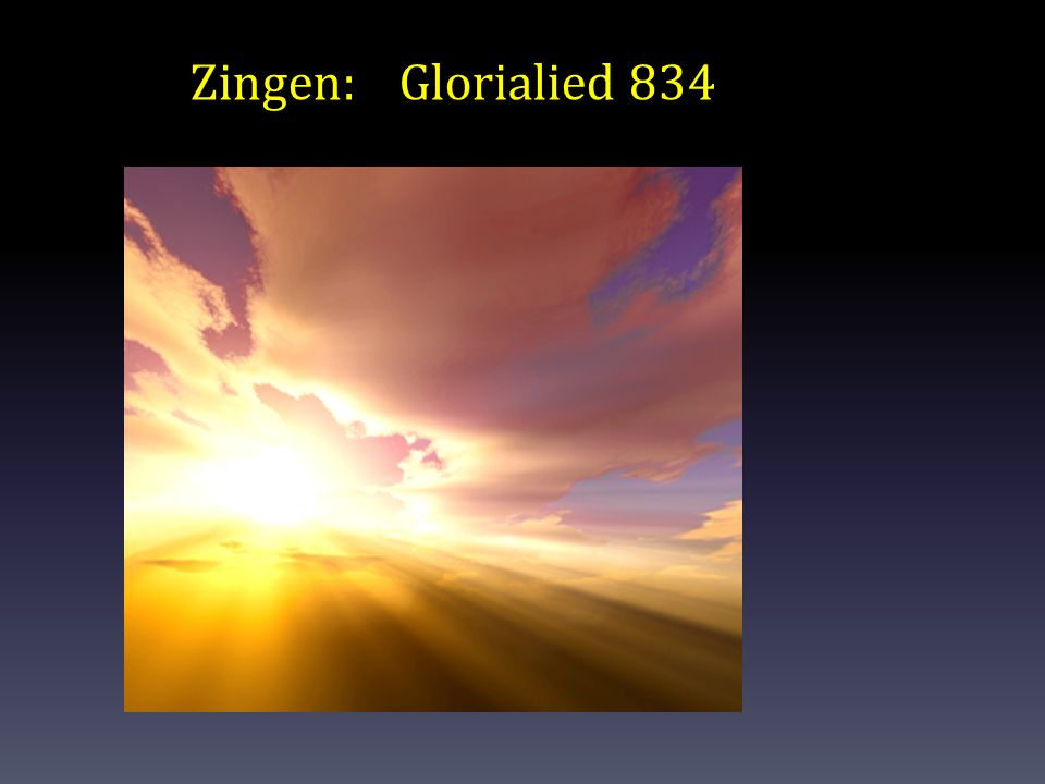 Zingen:Glorialied 834