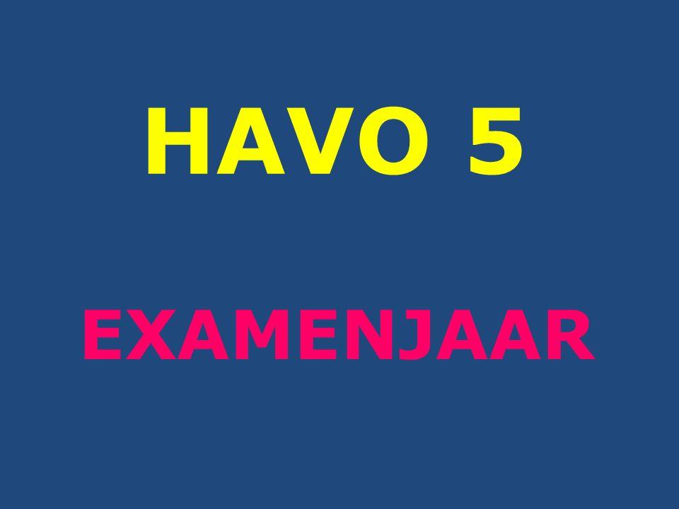 HAVO 5 EXAMENJAAR
