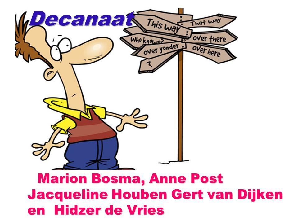 Marion Bosma, Anne Post Jacqueline Houben Gert van Dijken en Hidzer de Vries Marion Bosma, Anne Post Jacqueline Houben Gert van Dijken en Hidzer de VriesDecanaat