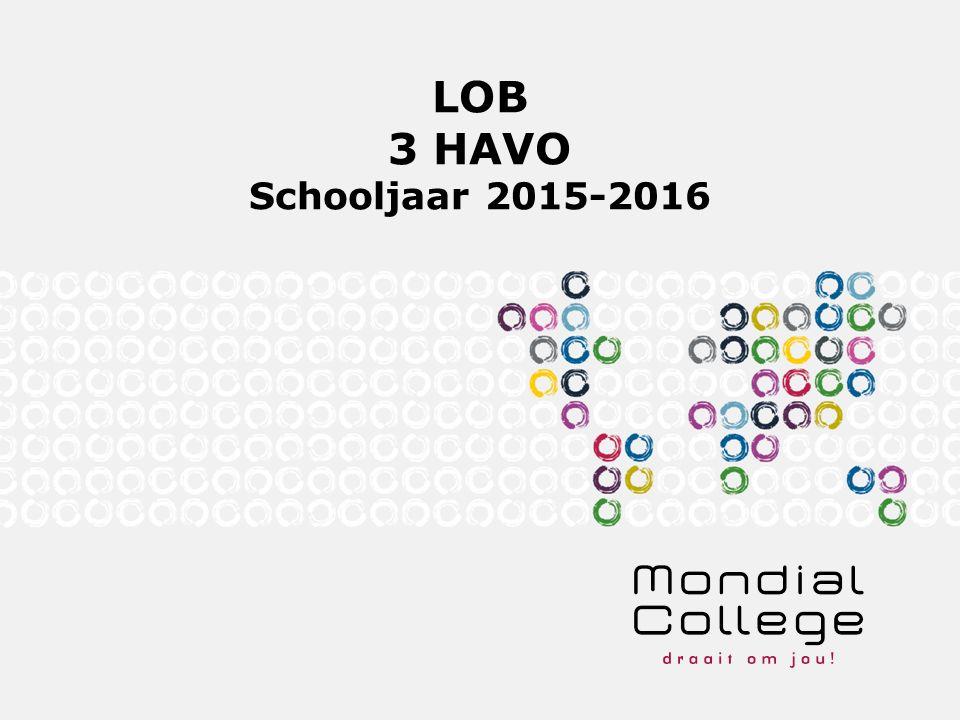 LOB 3 HAVO Schooljaar 2015-2016