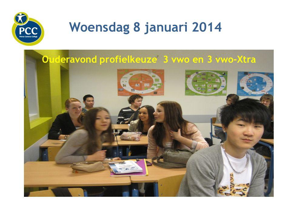 Woensdag 8 januari 2014 Ouderavond profielkeuze 3 vwo en 3 vwo-Xtra