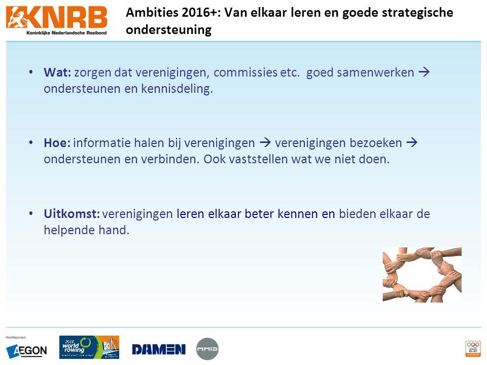 Wat: zorgen dat verenigingen, commissies etc. goed samenwerken  ondersteunen en kennisdeling.