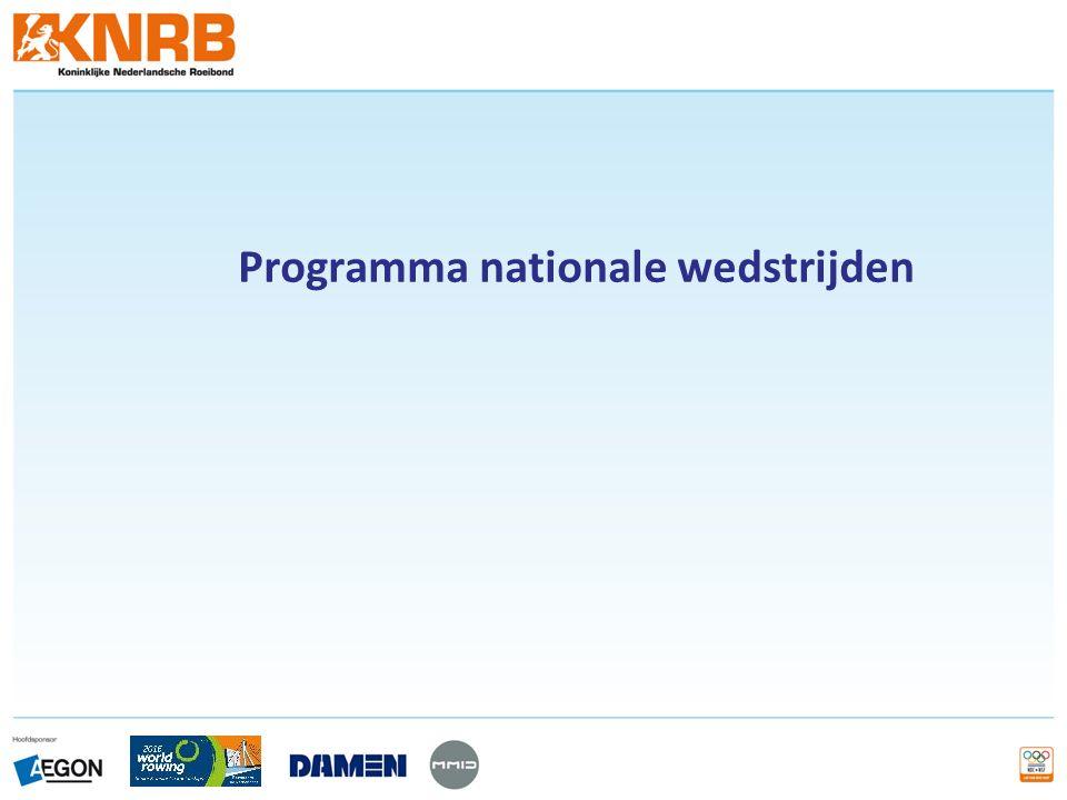 Programma nationale wedstrijden