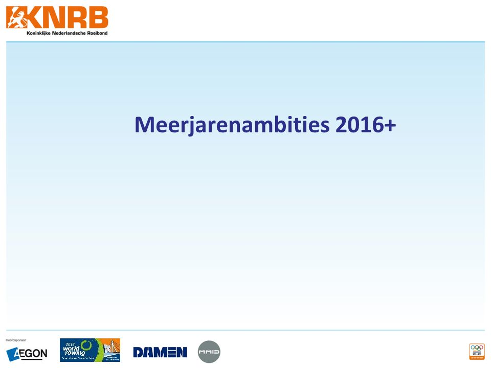 Meerjarenambities 2016+