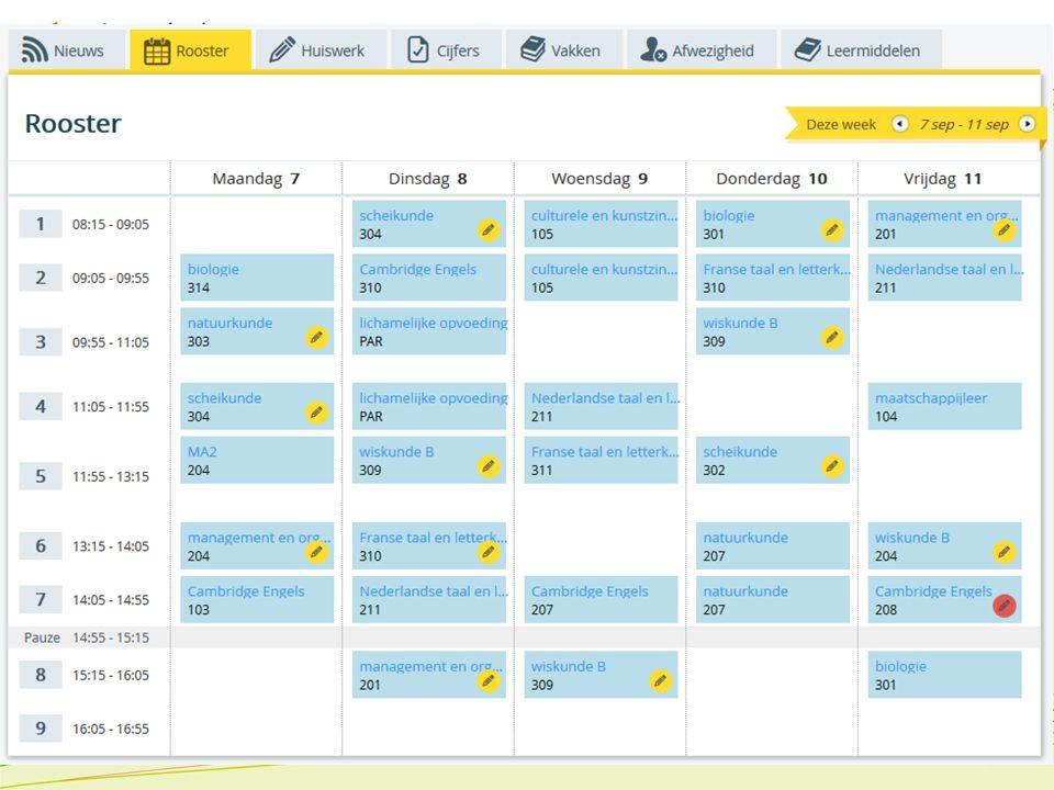 Kennismakingsavond 2015 Op SomToday vindt u Leerling kan gemaakt huiswerk afvinken voor eigen administratie