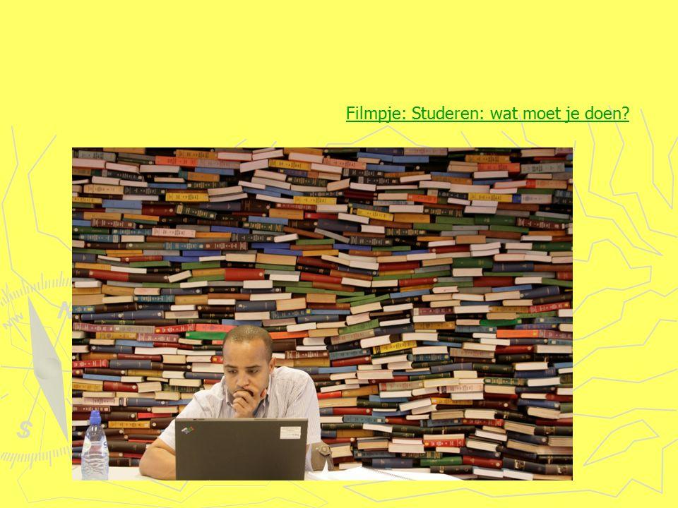 Filmpje: Studeren: wat moet je doen