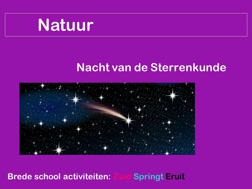 Natuur Nacht van de Sterrenkunde Brede school activiteiten: Zuid Springt Eruit