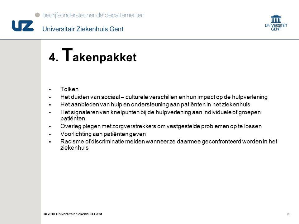 19© 2010 Universitair Ziekenhuis Gent 8. A fsluiter Interessante link: http://www.tvcn.nl/nl/map/