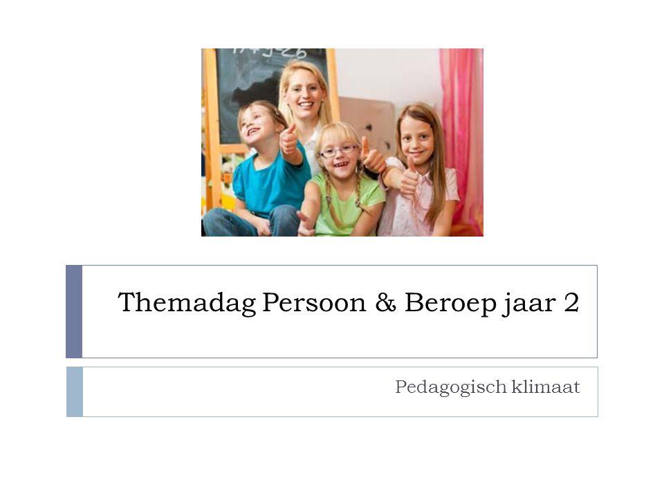 Themadag Persoon & Beroep jaar 2 Pedagogisch klimaat