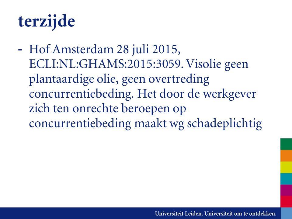 terzijde - Hof Amsterdam 28 juli 2015, ECLI:NL:GHAMS:2015:3059.