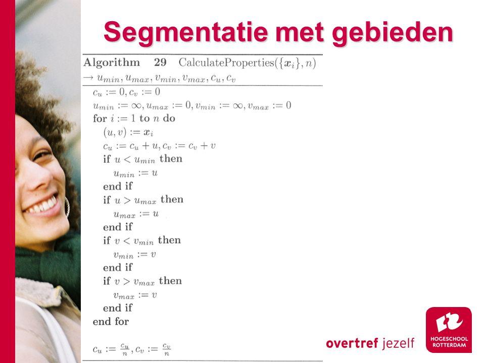 # Segmentatie met gebieden