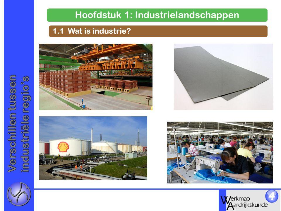 Hoofdstuk 1: Industrielandschappen 1.1 Wat is industrie?