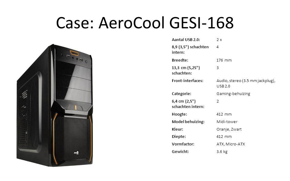 Case: AeroCool GESI-168 Aantal USB 2.0:2 x 8,9 (3,5
