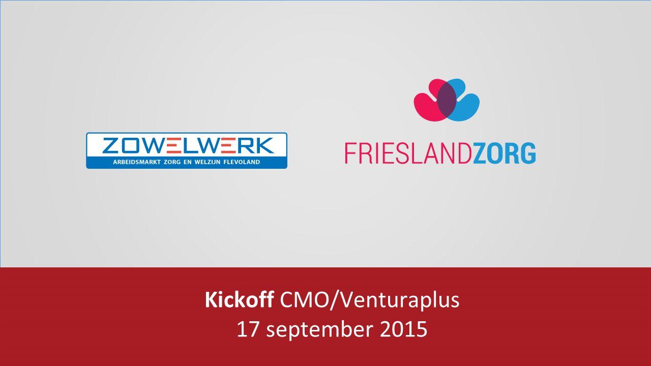 PRESENTATIE Kickoff CMO/Venturaplus 17 september 2015