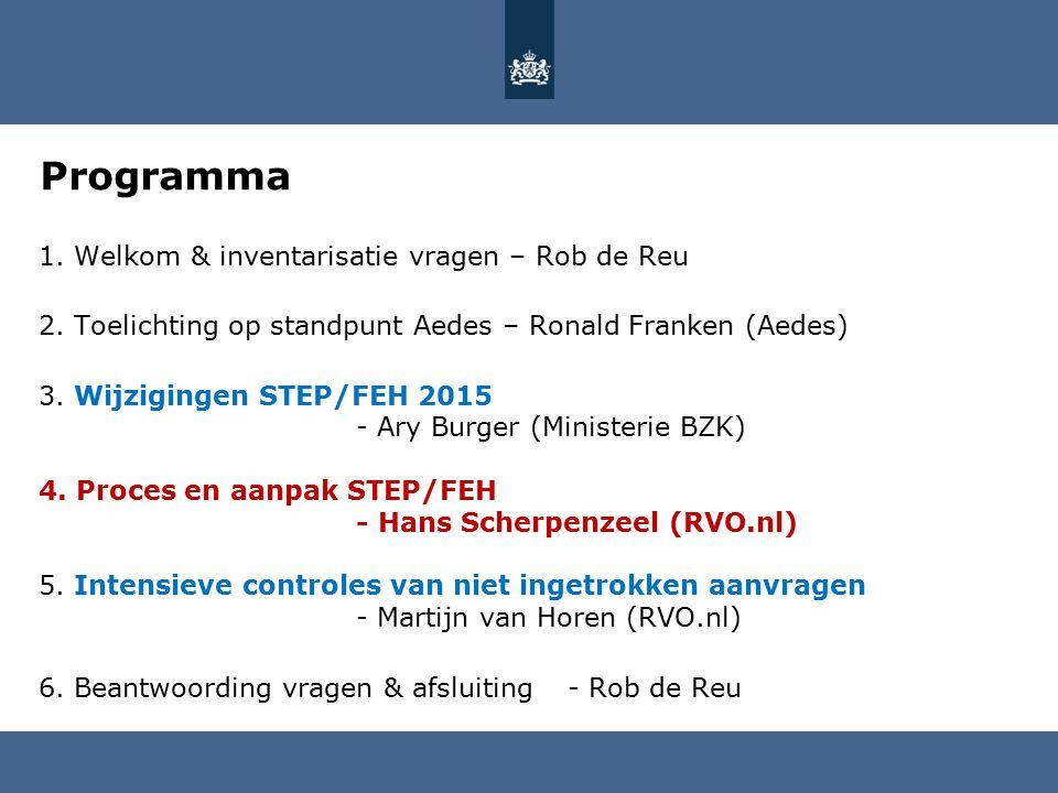 Programma 1. Welkom & inventarisatie vragen – Rob de Reu 2.