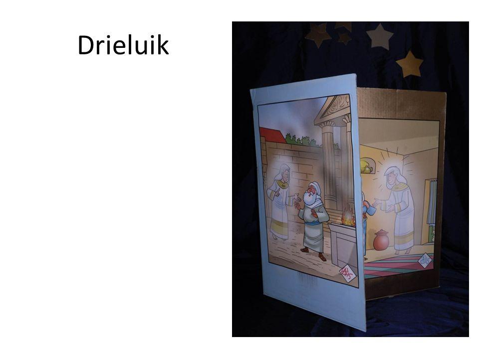 Kerstspel Personen: Manuel (een klein kind); Moeder Ria; vader Jos (grote kinderen of volwassenen) Nodig: Kerstboom, kerststal (ingepakt in een grote doos) stoelen, tafel, radio of cassettedeck.