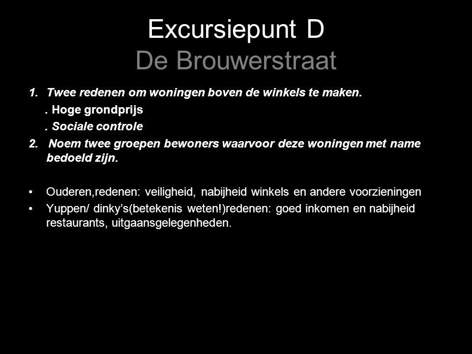 Excursiepunt D De Brouwerstraat 1.Twee redenen om woningen boven de winkels te maken..