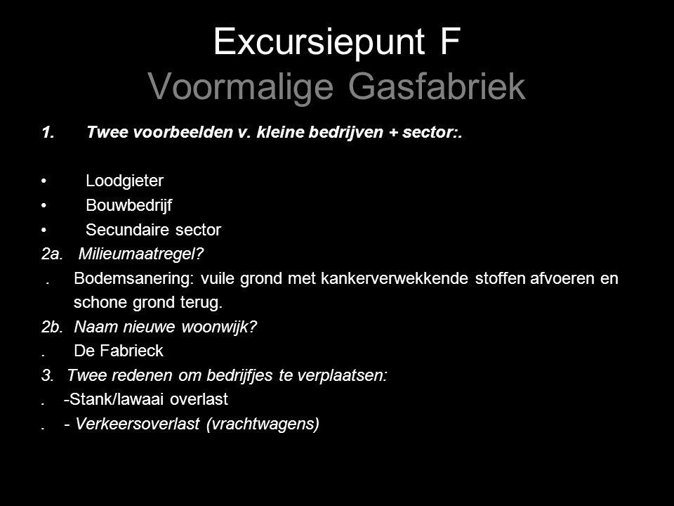 Excursiepunt F Voormalige Gasfabriek 1.Twee voorbeelden v.