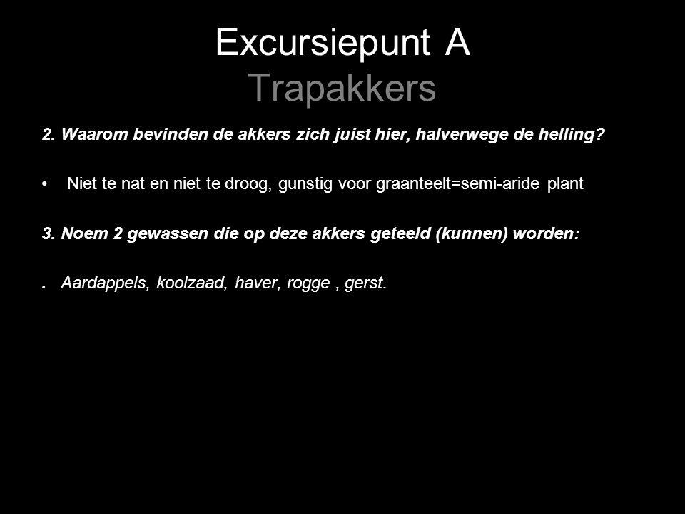 Excursiepunt A Trapakkers 4.Zie vr 4:Noteer de resultaten van de grondboring.