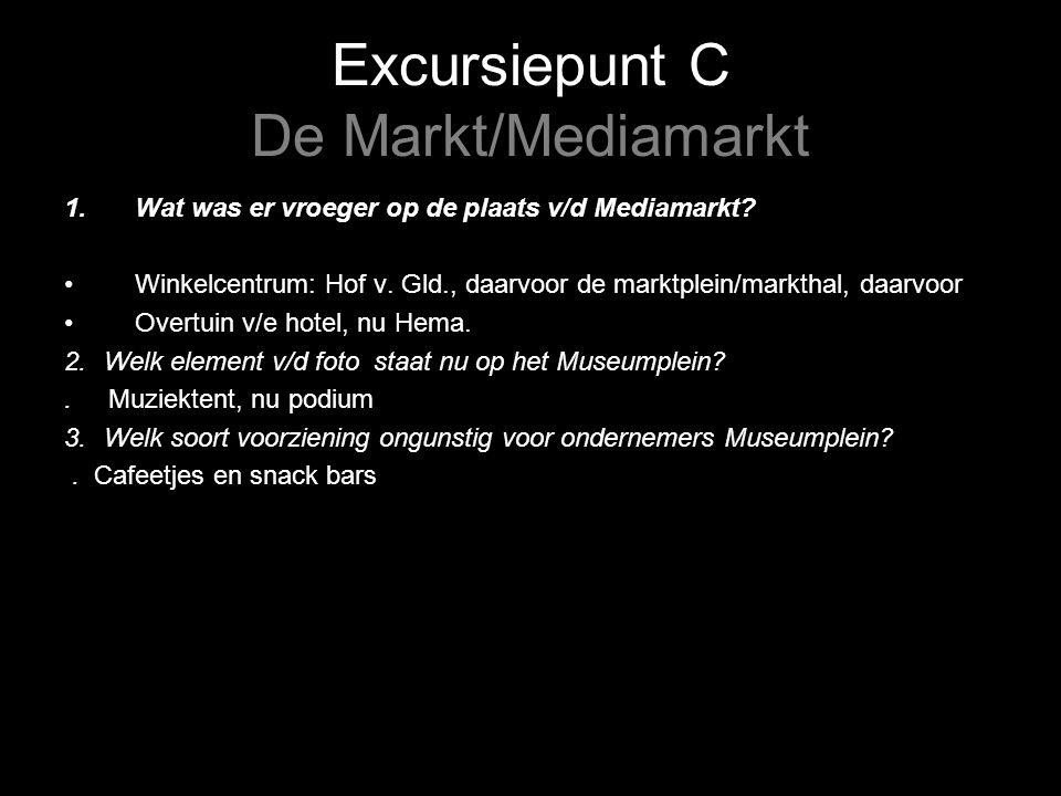 Excursiepunt C De Markt/Mediamarkt 1.Wat was er vroeger op de plaats v/d Mediamarkt.