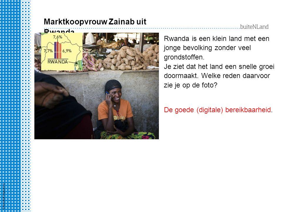 Marktkoopvrouw Zainab uit Rwanda Rwanda is een klein land met een jonge bevolking zonder veel grondstoffen.