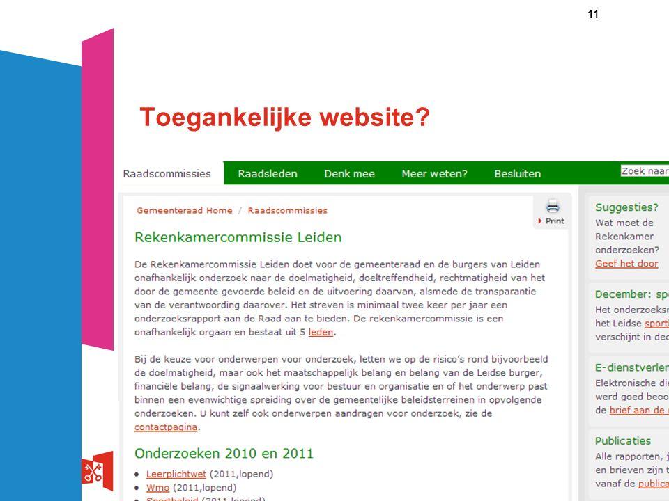 11 Toegankelijke website?