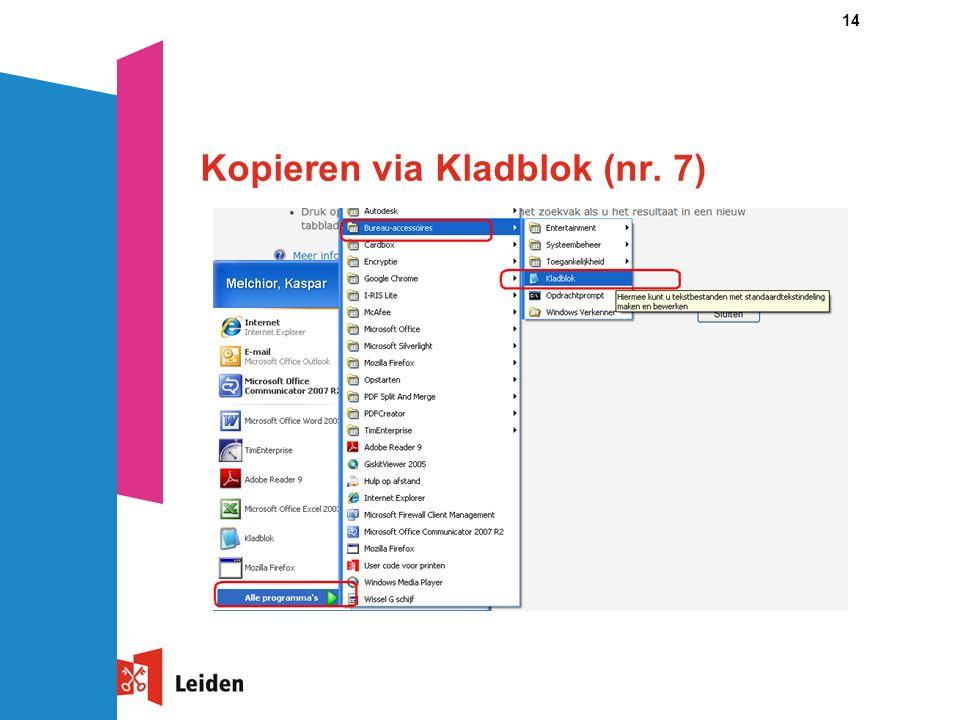 14 Kopieren via Kladblok (nr. 7)