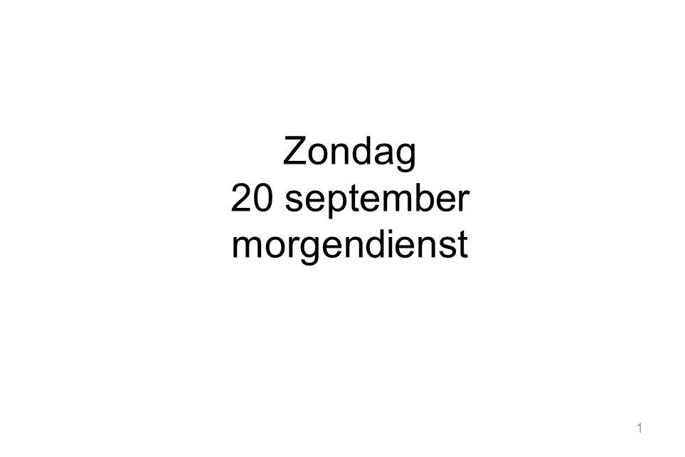 1 Zondag 20 september morgendienst