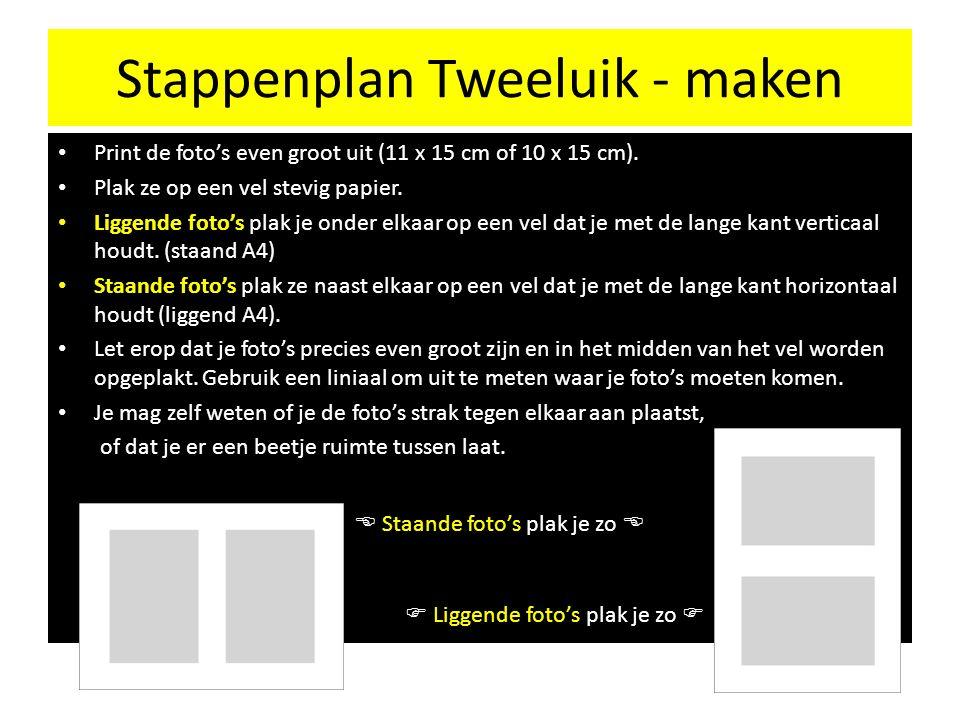 Stappenplan Tweeluik - maken in Word Open een nieuw word document, ga naar 'pagina-indeling, afdrukstand'.