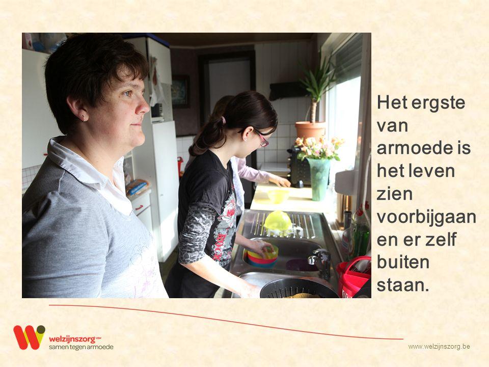 www.welzijnszorg.be Barsten 't Is niet de schimmel op de muur of wat er op de schamele meubels staat geschreven.
