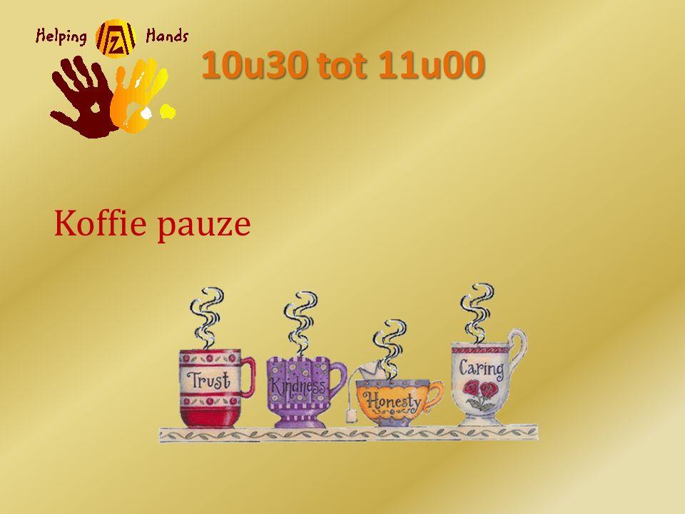 10u30 tot 11u00 Koffie pauze