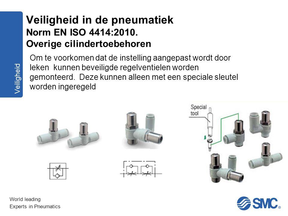 World leading Experts in Pneumatics Veiligheid Om te voorkomen dat de instelling aangepast wordt door leken kunnen beveiligde regelventielen worden ge