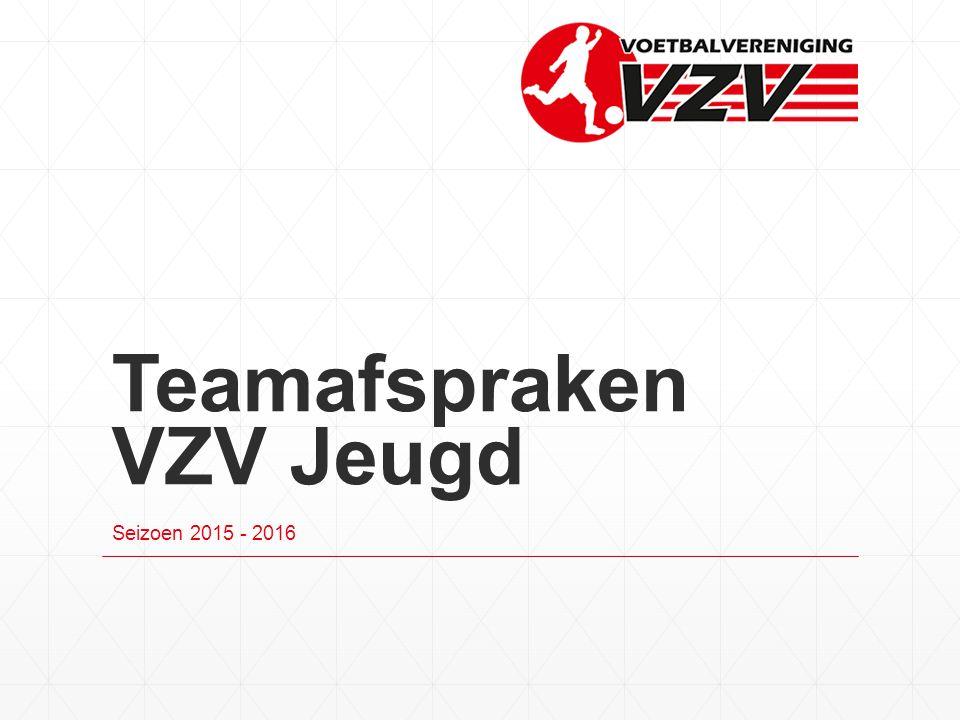 Teamafspraken VZV Jeugd Seizoen 2015 - 2016