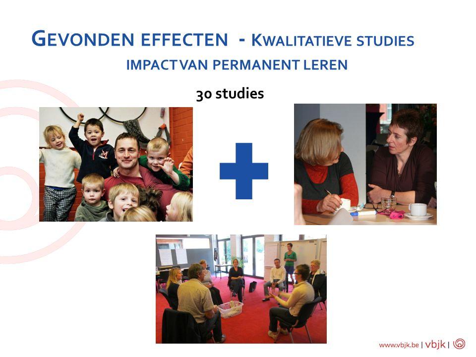 G EVONDEN EFFECTEN - K WALITATIEVE STUDIES IMPACT VAN PERMANENT LEREN 30 studies