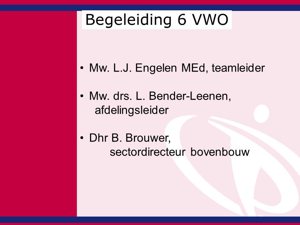 Mw. L.J. Engelen MEd, teamleider Mw. drs. L. Bender-Leenen, afdelingsleider Dhr B.